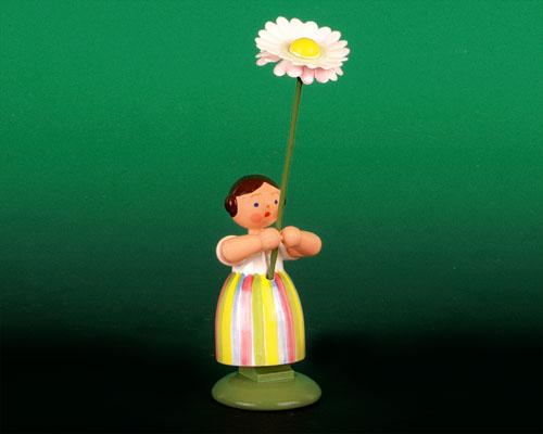 Seiffen Weihnachtshaus - Wiesenblumenkind 11cm Gänseblume - Bild 1