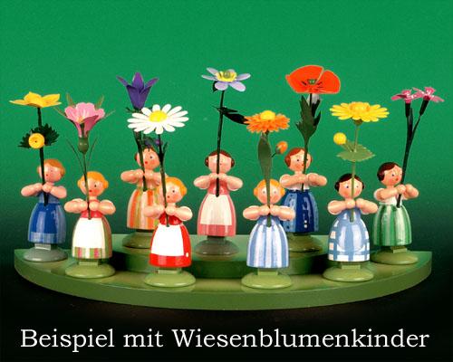 Seiffen Weihnachtshaus - Wiese grün 2 stufig - Bild 2