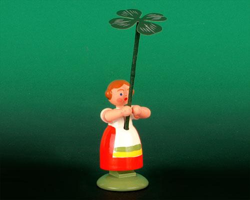 Seiffen Weihnachtshaus - Wiesenblumenkind 11cm Glücksklee - Bild 1