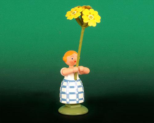 Seiffen Weihnachtshaus - Wiesenblumenkind 11cm Himmelschlüssel - Bild 1