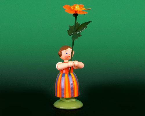 Seiffen Weihnachtshaus - Wiesenblumenkind 11cm Geum - Bild 1
