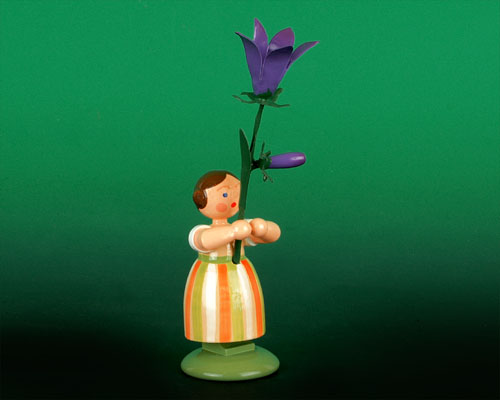 Seiffen Weihnachtshaus - Wiesenblumenkind Wiesenglockenblume 11cm - Bild 1