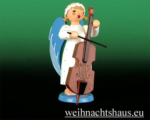 Seiffen Weihnachtshaus - Barockengel farbig Baß - Bild 1