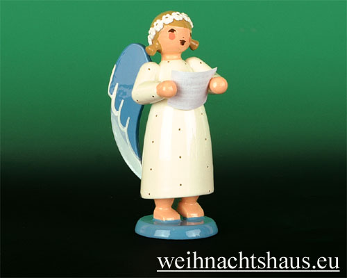 Seiffen Weihnachtshaus - Barockengel farbig Sänger - Bild 1
