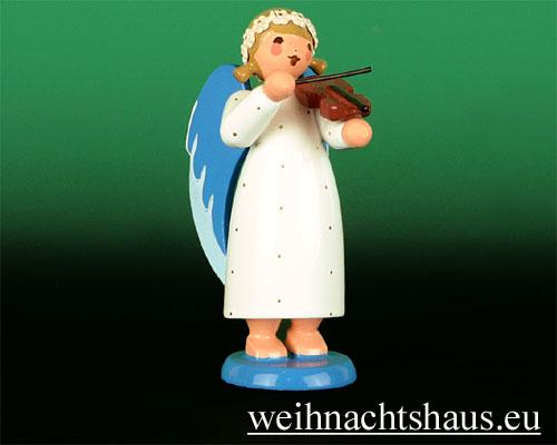 Seiffen Weihnachtshaus - Barockengel farbig Geige - Bild 1