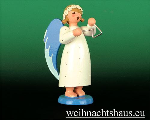 Seiffen Weihnachtshaus - Barockengel farbig Triangel - Bild 1