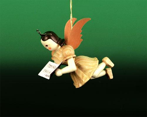 Seiffen Weihnachtshaus - Schwebeengel natur Sänger Blank - Bild 1