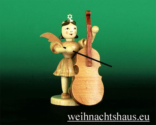 Seiffen Weihnachtshaus - Kurzrockengel natur Bass - Bild 1