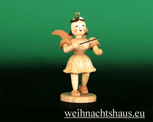 Seiffen Weihnachtshaus - Kurzrockengel natur Dirigent - Bild 1