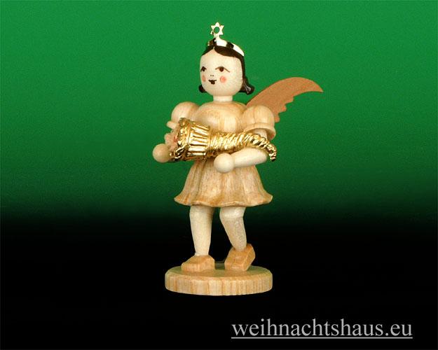 Seiffen Weihnachtshaus - Kurzrockengel natur  Füllhorn Blank Neu 2012 - Bild 1