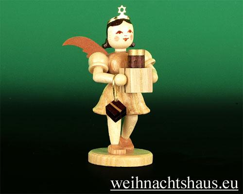 Seiffen Weihnachtshaus - Kurzrockengel natur Geschenke - Bild 1