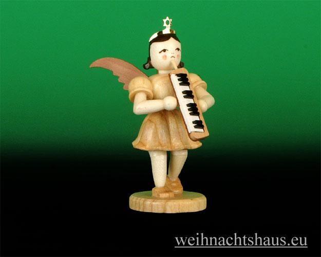 Seiffen Weihnachtshaus - Kurzrockengel natur  Melodika Blank Neu 2012 - Bild 1