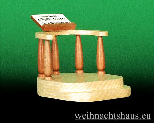 Seiffen Weihnachtshaus - Kurzrockengel natur Notenpult - Bild 1