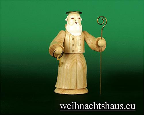 Seiffen Weihnachtshaus - Kurzrockengel natur Petrus - Bild 1