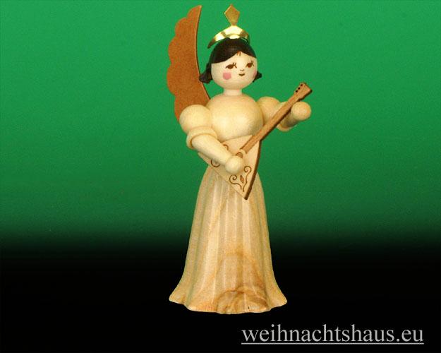 Seiffen Weihnachtshaus - Langrockengel  natur Balaleika NEU 2012 - Bild 1