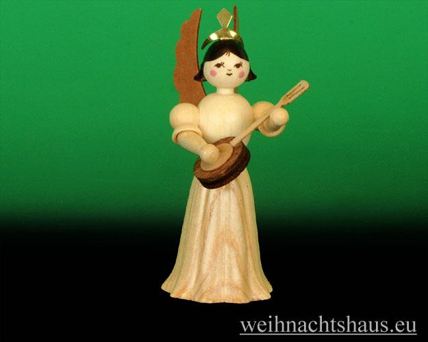 Seiffen Weihnachtshaus - Langrockengel  natur Banjo NEU 2012 - Bild 1
