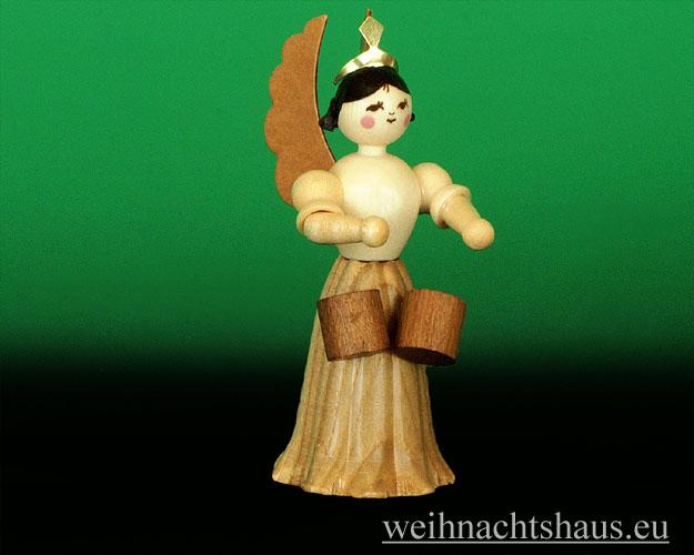 Seiffen Weihnachtshaus - Langrockengel  natur Bongo Trommeln NEU 2012 - Bild 1