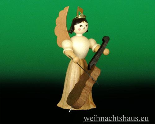 Seiffen Weihnachtshaus - Langrockengel natur Cello - Bild 1