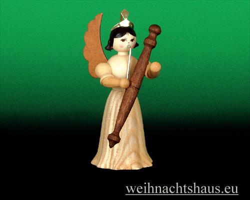 Seiffen Weihnachtshaus - Langrockengel natur Fagott - Bild 1