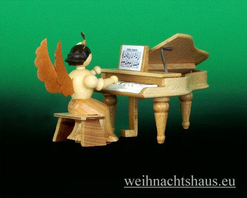 Seiffen Weihnachtshaus - Langrockengel natur Flügel - Bild 1