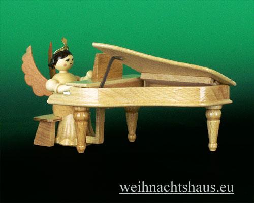 Seiffen Weihnachtshaus - Langrockengel natur Flügel - Bild 2