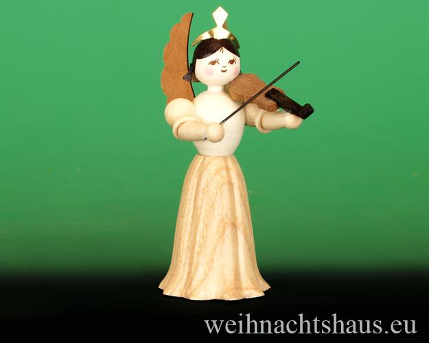 Seiffen Weihnachtshaus - Langrockengel natur Geige - Bild 1