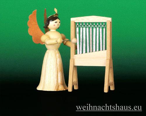 Seiffen Weihnachtshaus - Langrockengel natur Glockenspiel - Bild 1