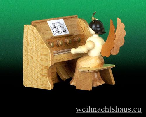 Seiffen Weihnachtshaus - Langrockengel natur Harmonium - Bild 1