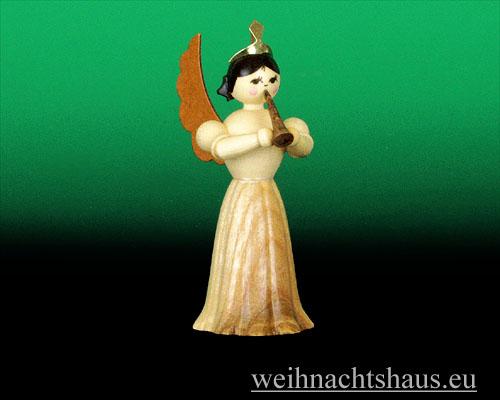 Seiffen Weihnachtshaus - Langrockengel natur Klarinette - Bild 1