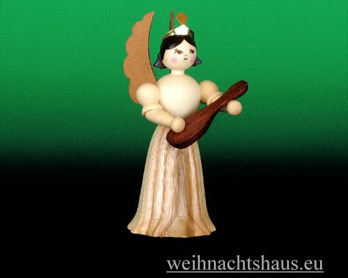 Seiffen Weihnachtshaus - Langrockengel natur Mandoline - Bild 1