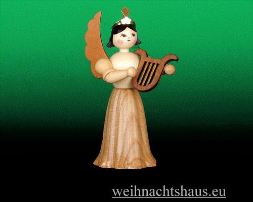 Seiffen Weihnachtshaus - Langrockengel natur Lyra - Bild 1