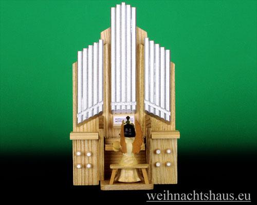Seiffen Weihnachtshaus - Langrockengel natur Orgel - Bild 1