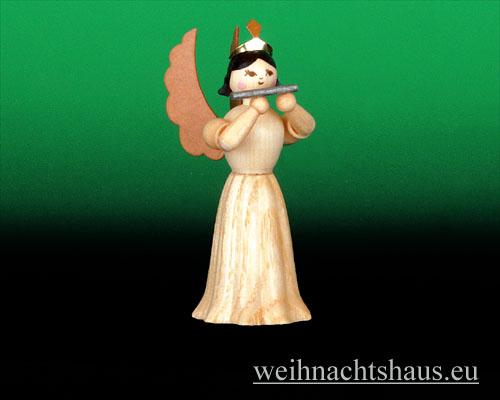 Seiffen Weihnachtshaus - Langrockengel natur Querflöte - Bild 1
