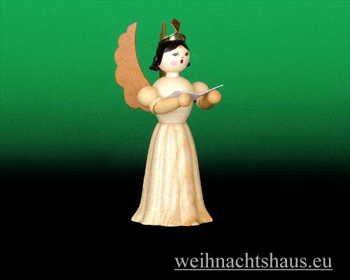 Seiffen Weihnachtshaus - Langrockengel natur Sänger - Bild 1