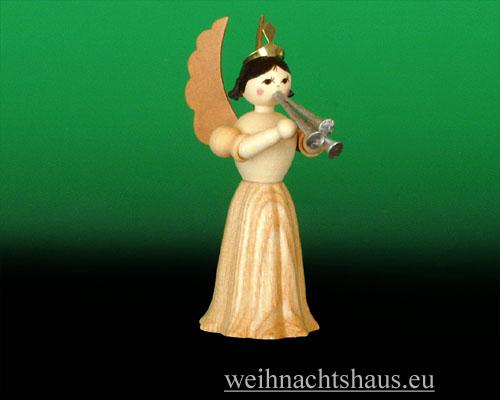 Seiffen Weihnachtshaus - Langrockengel natur Schalmei - Bild 1