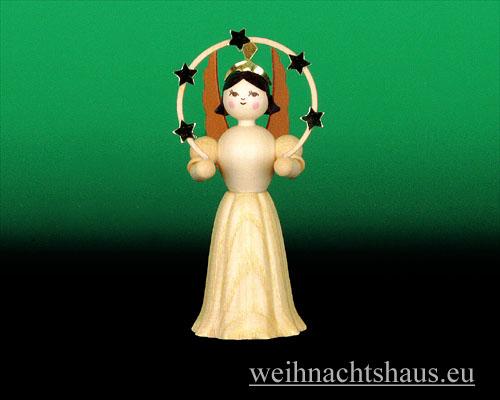 Seiffen Weihnachtshaus - Langrockengel natur Sternenbogen - Bild 1
