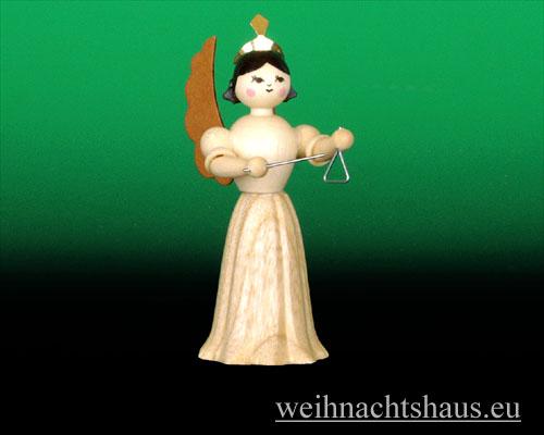 Seiffen Weihnachtshaus - Langrockengel natur Triangel - Bild 1