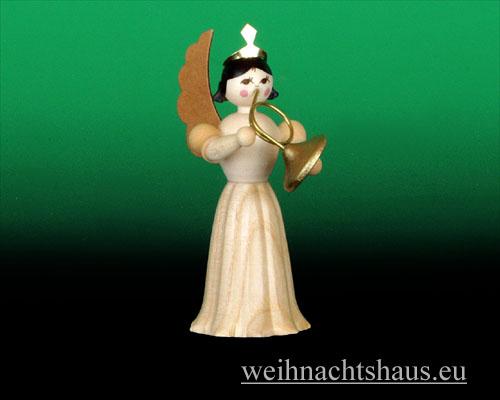 Seiffen Weihnachtshaus - Langrockengel natur Waldhorn - Bild 1