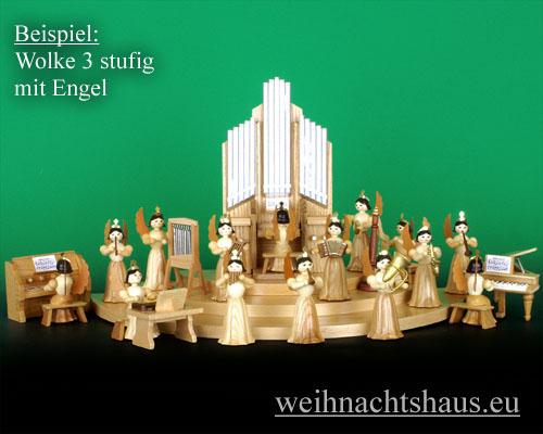 Seiffen Weihnachtshaus - Langrockengel natur Orgel - Bild 3
