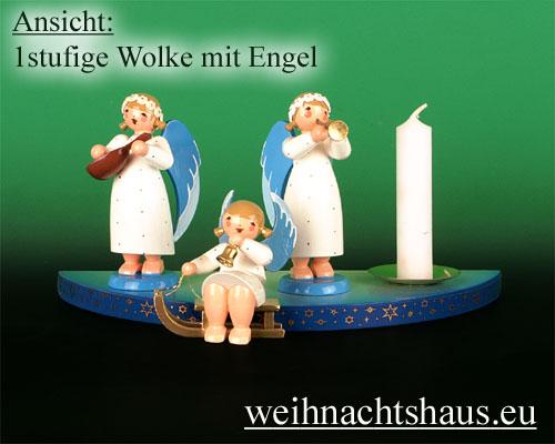 Seiffen Weihnachtshaus - Wolke farbig 1-stufig - Bild 2