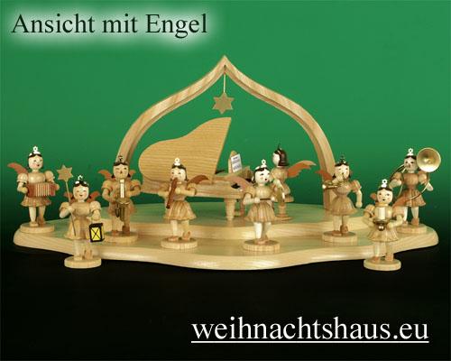 Seiffen Weihnachtshaus - Engelwolke natur 2-stufig - Bild 2