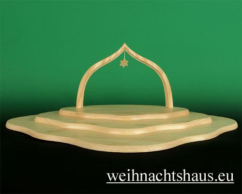 Seiffen Weihnachtshaus - Engelwolke natur 3-stufig - Bild 1