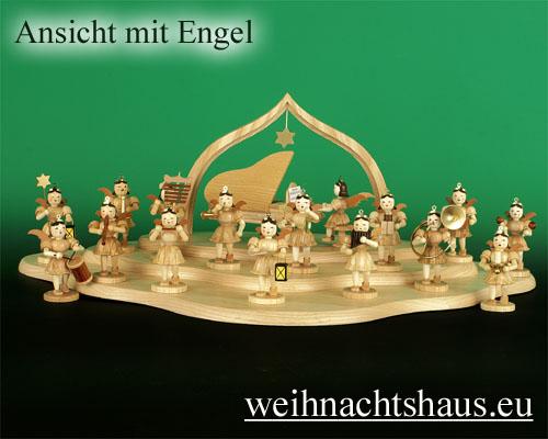 Seiffen Weihnachtshaus - Engelwolke natur 3-stufig - Bild 2