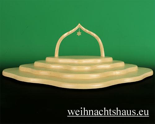 Seiffen Weihnachtshaus - Engelwolke natur 4-stufig - Bild 1