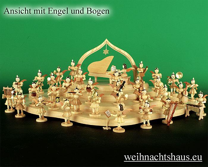 Seiffen Weihnachtshaus - Engelwolke natur 4-stufig - Bild 2