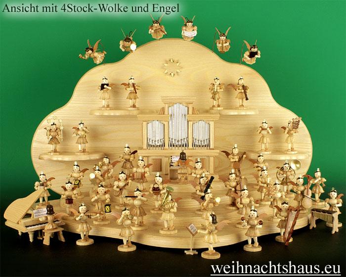 Seiffen Weihnachtshaus - Engelwolke natur Rückwand - Bild 3