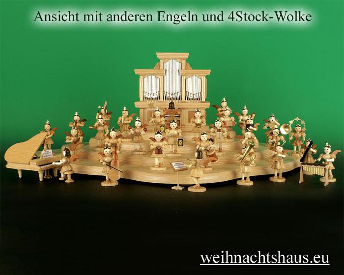 Seiffen Weihnachtshaus - Kurzrockengel       natur    Schlagzeug Blank Neuheit 2020 - Bild 3