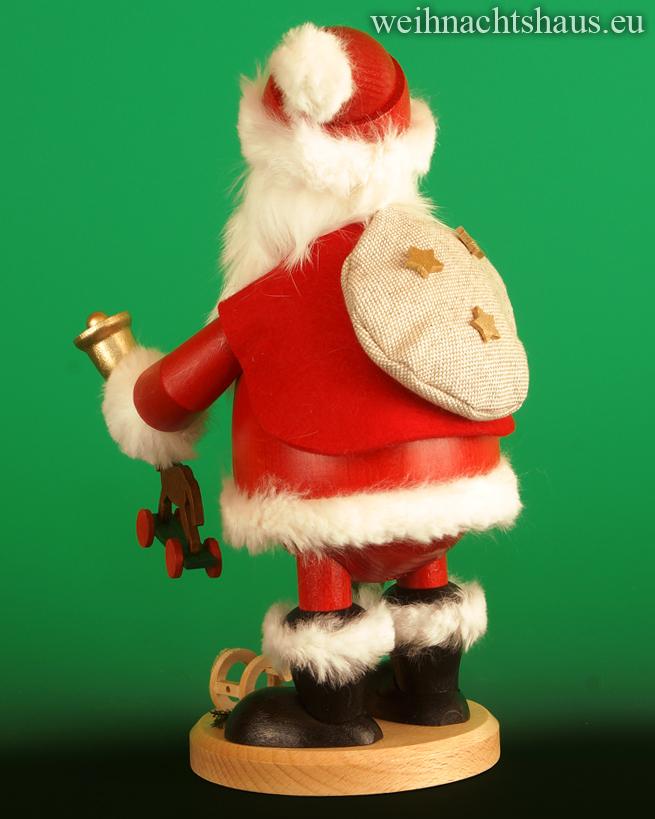 Seiffen Weihnachtshaus - <!--03-->Räuchermann großer Wichtel Weihnachtsmann mit Geschenken - Bild 2