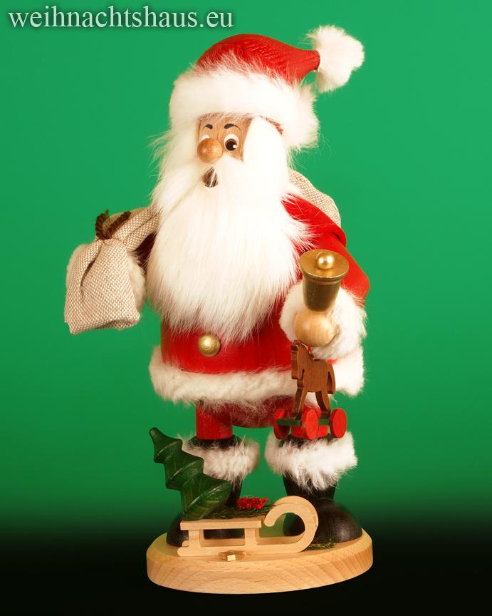 Räuchermann großer Wichtel Weihnachtsmann mit Geschenken