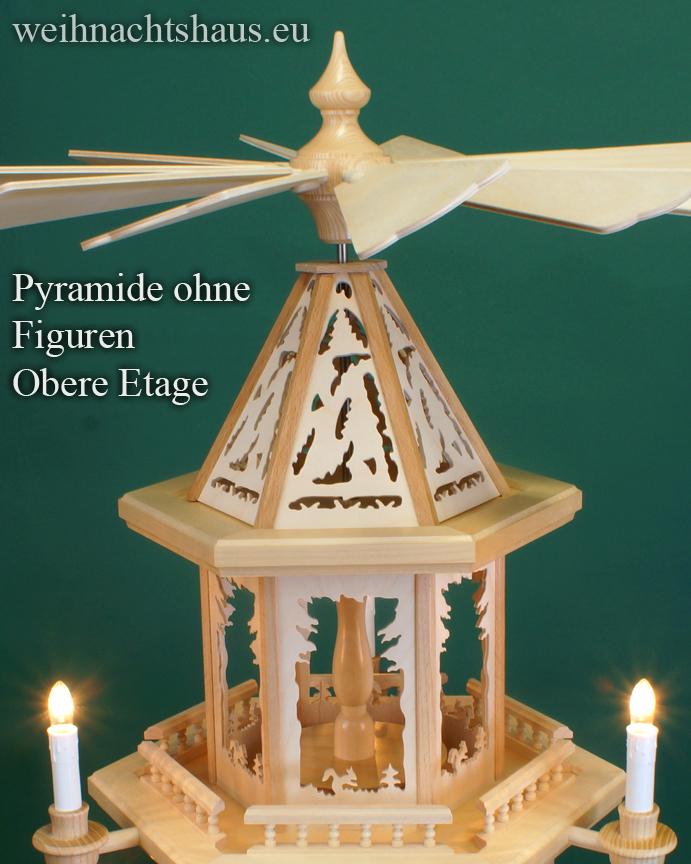 Seiffen Weihnachtshaus - Weihnachtspyramide 100 cm Pyramide mit elektrischer Beleuchtung  ohne Figuren - ohne Bestueckung - Bild 2